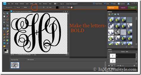 large monogram cutout  easy