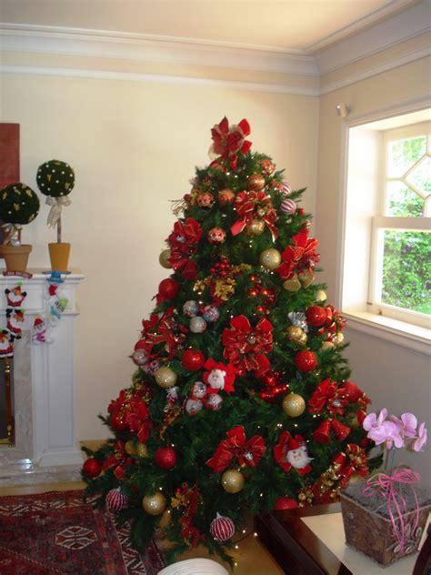 decoração arvore de natal vermelho e branco algod 227 o doce e cia dezembro 2011