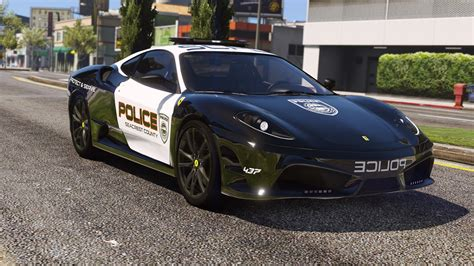 police ferrari ferrari f430 scuderia pursuit police add on