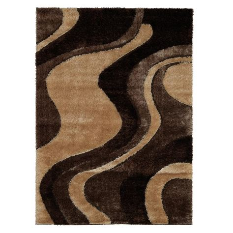 shaggy collection rugs casa shaggy collection 3d design abstract waves brown beige soft shag 5 ft 3 in x 7 ft