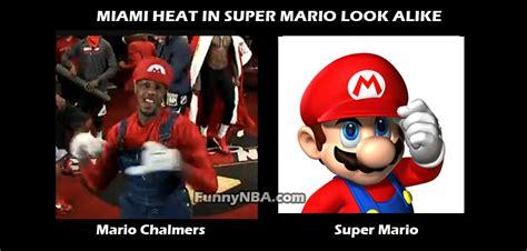 Mario Chalmers Meme - super mario bros vs miami heat nba funny moments