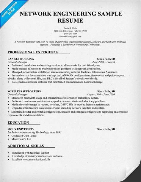 Free Network Engineer Resume Samples   Writing Resume