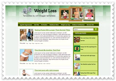 templates for blogger free xml weight loss free xml template download blogger template
