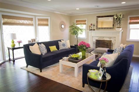 navy cream living room contemporary with lime green decorative pillows