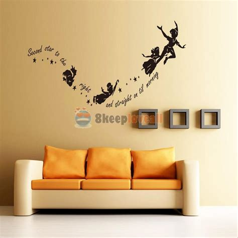 decorative stickers for wall tinkerbell pan wall decal room nursery mural home decor stickers ebay