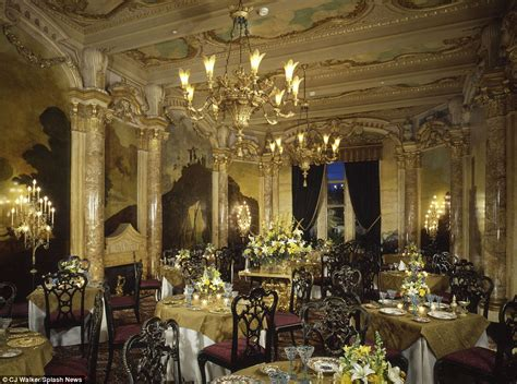 trump gold room inside the very flashy mar a lago resort where trump is