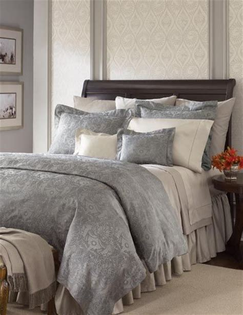 taupe and grey bedroom love the mix of grey and taupe bedding with the dark wood