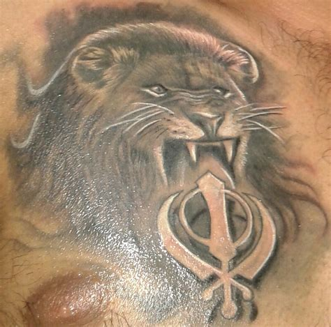 khanda lion tattoo designs punjabi images designs