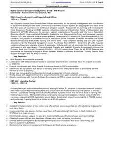 Property Book Officer Sle Resume by Lambert Resume 2
