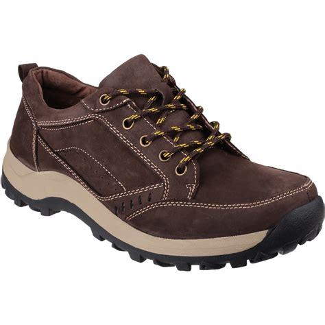 cotswold mens nailsworth nubuck leather walking shoes uk