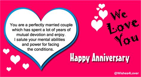 Wedding Anniversary For Parents by Anniversary Wishes For Parents Wishes4lover