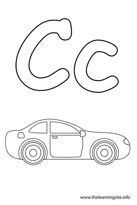 Car Coloring Page For Letter C Coloring Pages The Letter C Coloring Pages