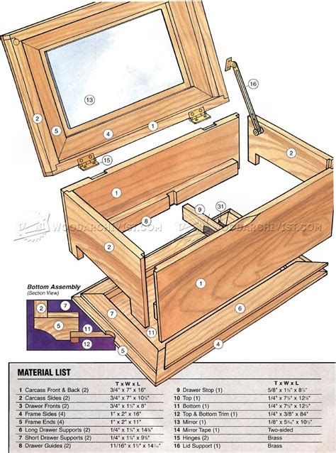 woodworking plans for jewelry box build jewelry box woodarchivist
