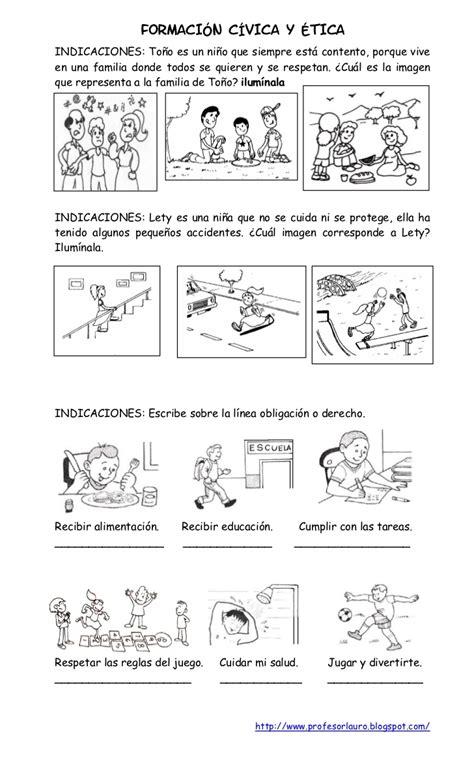 ejercicios de formacion civica y etica para colorear examen primer grado de primaria iv bimestre