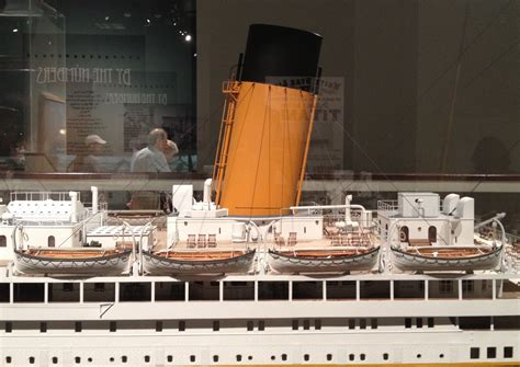 titanic lifeboat model that sinking feeling the titanic exhibit at the national