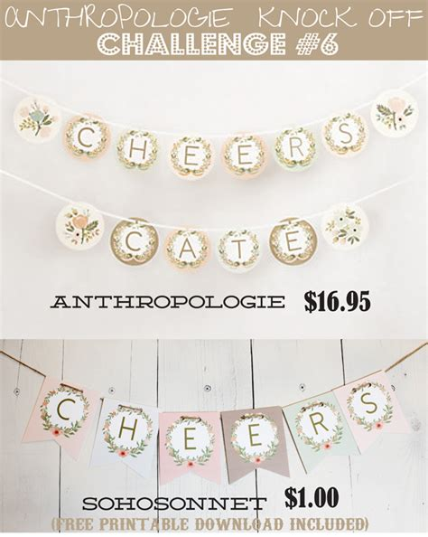 Live Laugh Love Home Decor by Anthropologie Challenge Day 6 Alphabet Free Banner