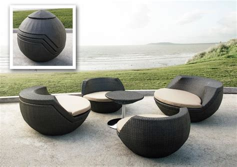 Modern Patio Chairs Ovum Modern Egg Shaped Patio Set Contemporary Outdoor Lounge Chairs New York By Sykes