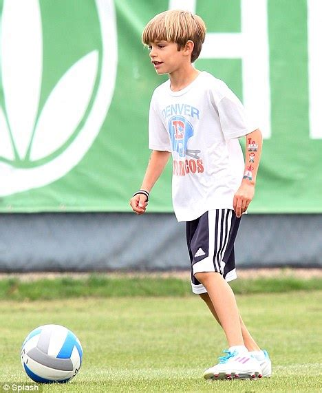 romeo beckham tattoo romeo beckham emulates david s with