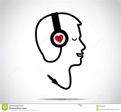 Ienjoy Hello Headset headphones with symbol and its chord shaped in the form of a listening to