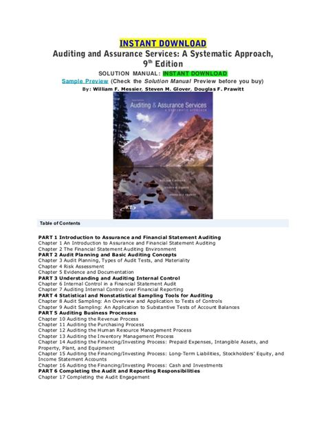 Auditing 9 E Jilid 1 auditing and assurance services 9th ed messier solution manual