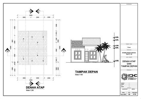 format gambar desain desain rumah sederhana format dwg denah rumah