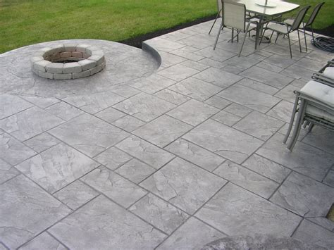 Stamped Concrete Backyard Ideas Decorative Stamped Concrete Nh Ma Me Contractor