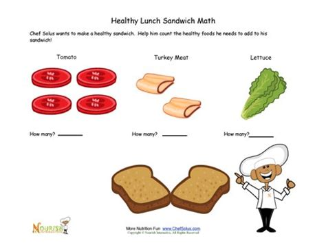 printable sandwich recipes sandwich math fun for children learning to count
