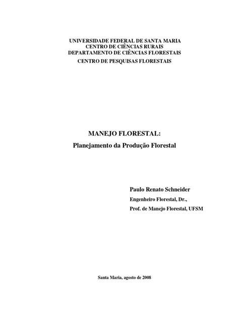 Planejamento do manejo florestal_Schneider.pdf | Economia