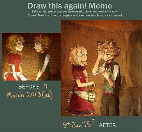 rrh draw this again meme by ekkoberry on deviantart