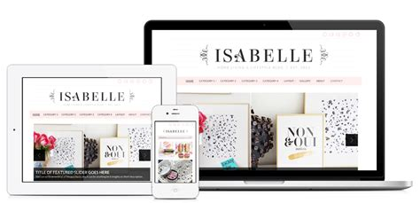 lifestyle blog design wordpress one woman shop