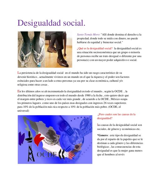 imagenes naturales sociales y economicas desigualdad social