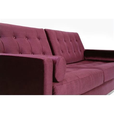 velvet sofa sets armen living centennial 3 velvet sofa set in purple