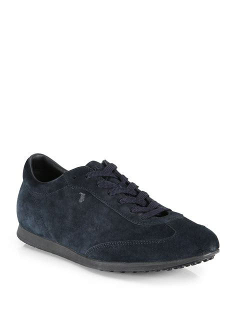 suede sneakers mens lyst tod s suede sneakers in blue for