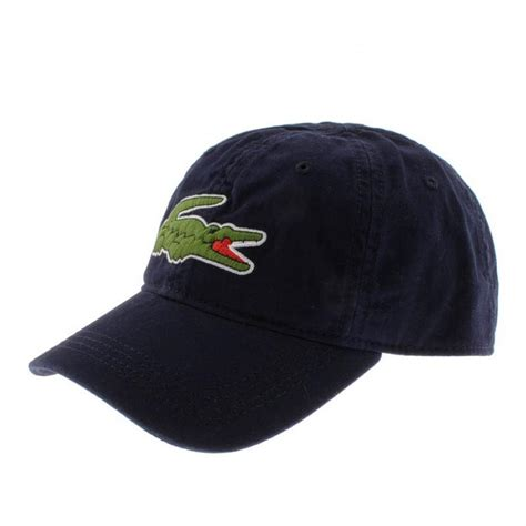 lacoste cap navy in blue for lyst