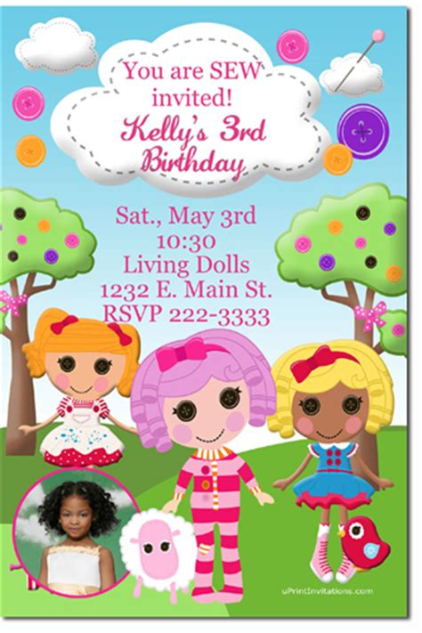 lalaloopsy birthday invitations party invitations ideas lalaloopsy birthday invitations choose your dolls any