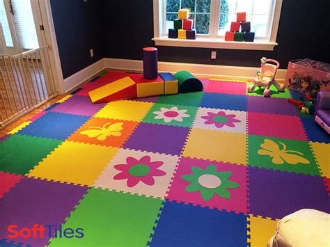Playroom Mat Flooring by Foam Tiles For Colorful Foam Mats Softtiles