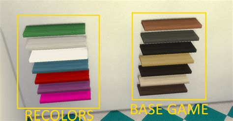 sims 4 cc desk shelf my sims 4 blog shelf recolors by thesimmer14