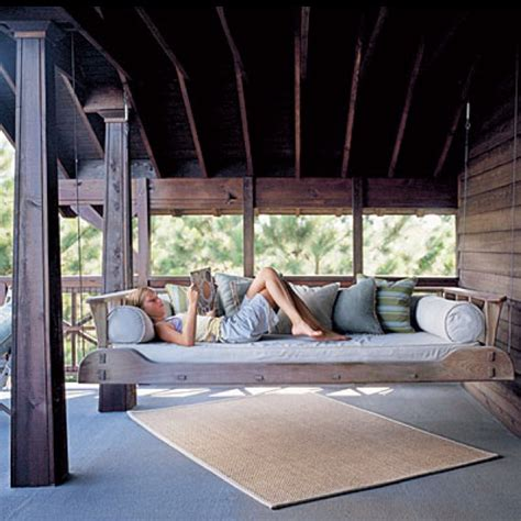 bed swings for porches porch swing bed house stuff pinterest