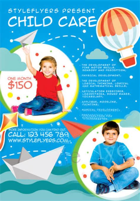 daycare flyer templates free child care free flyer template for photoshop