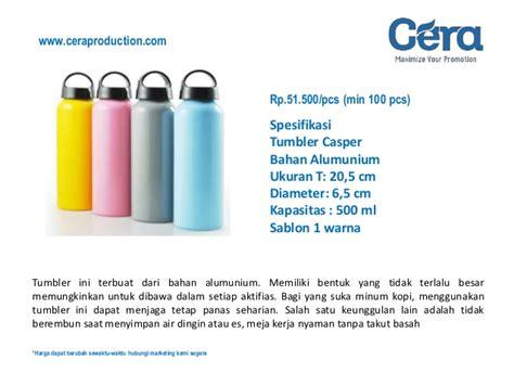 Tumbler Casper Promosi harga tumbler promosi alumunium terbaru