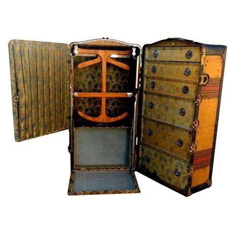Travel Wardrobe Trunk by Antique Indestructo Travel Wardrobe Steamer Trunk