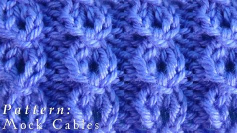 mock cable knit scarf pattern how to mock cables pattern