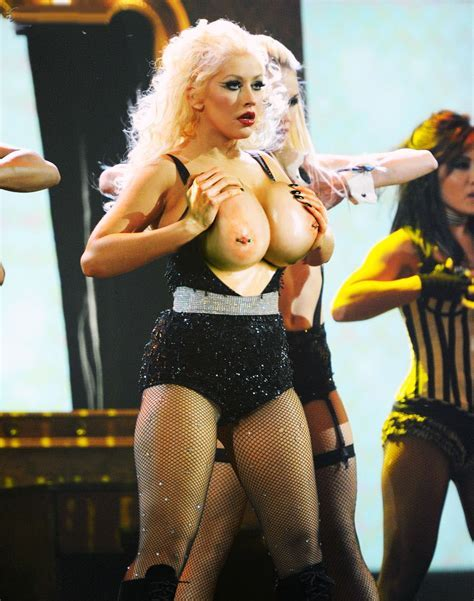 Christina Aguilera With Big Breast Big Boobs Celebrities