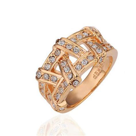 platinum plated finger rings gold golden