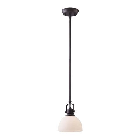 Bronze Mini Pendant Light Shop Canarm Rowan 7 In Rubbed Bronze Farmhouse Mini Dome Pendant At Lowes