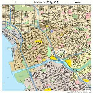national city california map 0650398