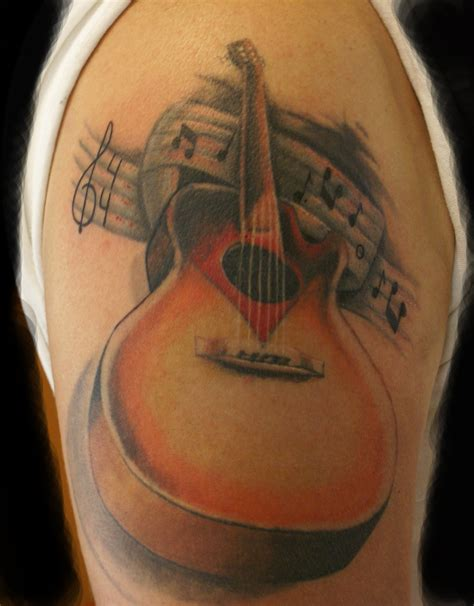 acoustic guitar tattoo guitar tattoos designs ideas and meaning tattoos for you
