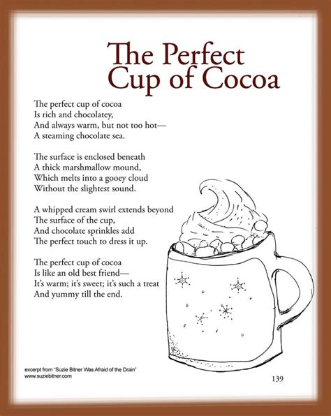 child poem children s poem about the cup of cocoa for