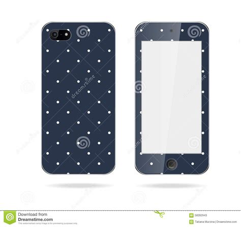 mobile phone cover mobile phone cover back and screen stock illustration