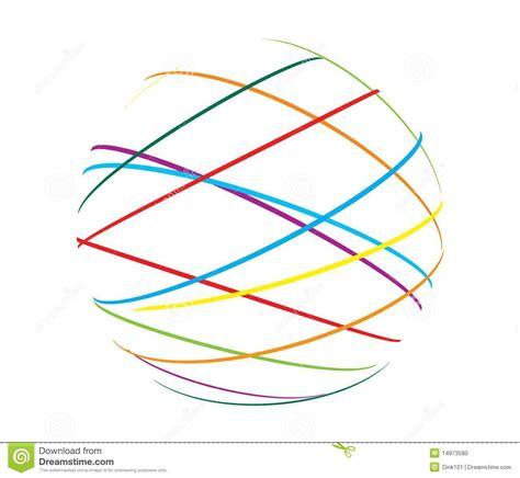 comprimir imagenes jpg en linea esfera abstracta de l 237 neas de color foto de archivo